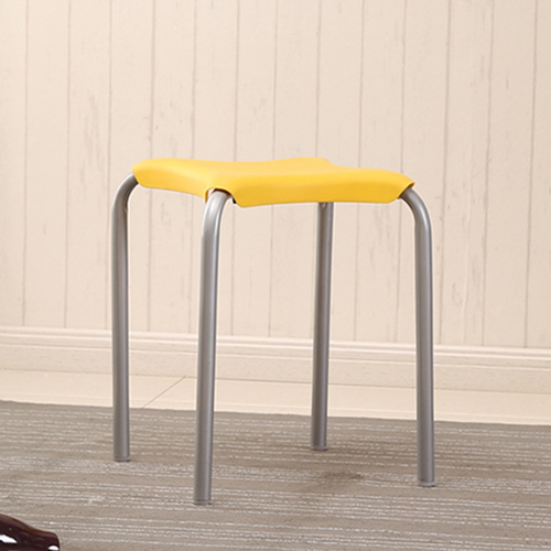 Metal Frame Plastic Stackable Stool Image 11