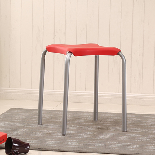 Metal Frame Plastic Stackable Stool Image 12
