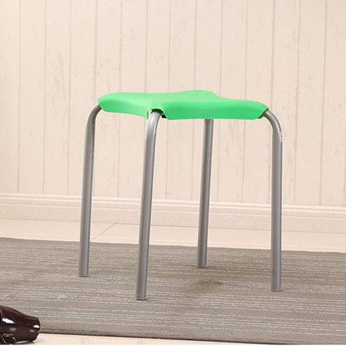 Metal Frame Plastic Stackable Stool Image 13
