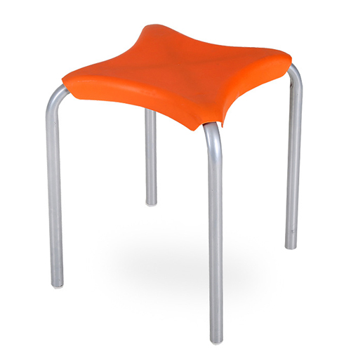 Metal Frame Plastic Stackable Stool