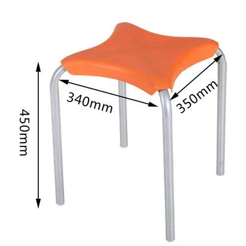 Metal Frame Plastic Stackable Stool Image 20