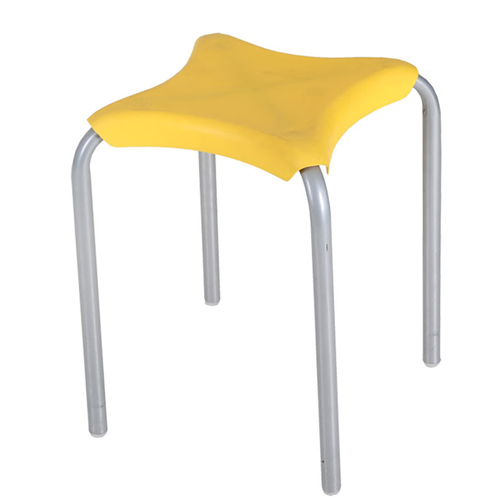 Metal Frame Plastic Stackable Stool Image 3