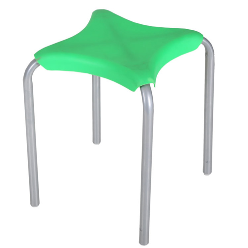 Metal Frame Plastic Stackable Stool Image 4