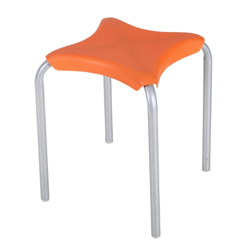 Metal Frame Plastic Stackable Stool Image 6