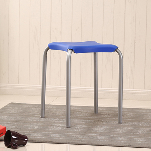 Metal Frame Plastic Stackable Stool Image 7