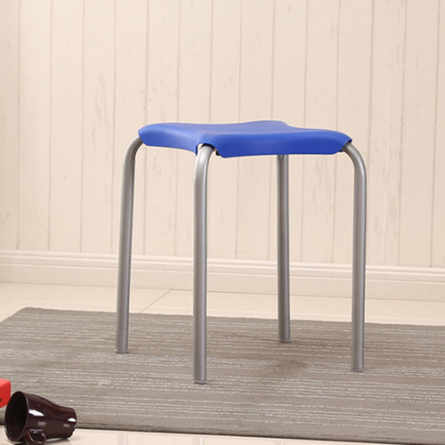 Metal Frame Plastic Stackable Stool Image 8