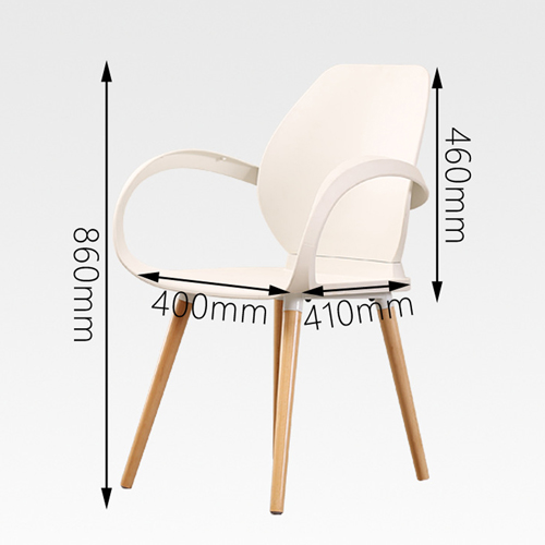 Creative Backrest Chair With Wooden Leg