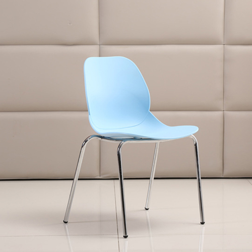 Elegant Stacking Chair With Chrome Leg Image 11