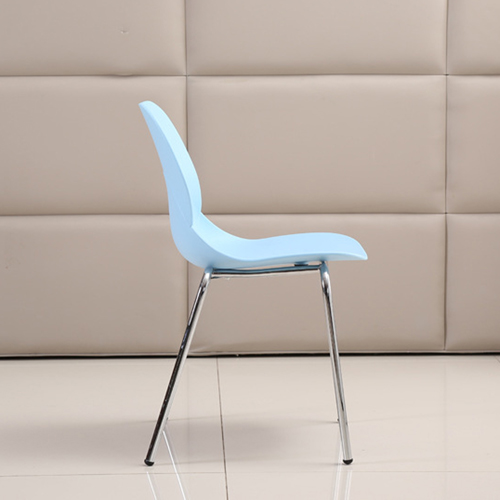 Elegant Stacking Chair With Chrome Leg Image 12