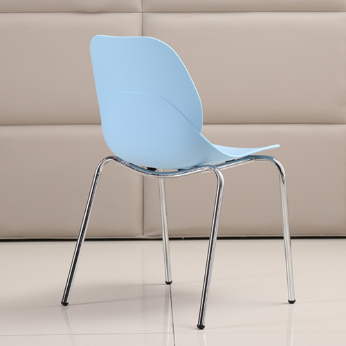 Elegant Stacking Chair With Chrome Leg Image 13