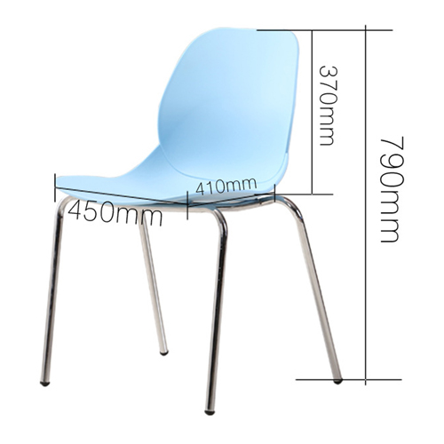 Elegant Stacking Chair With Chrome Leg Image 20