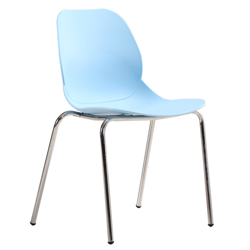 Elegant Stacking Chair With Chrome Leg Image 5