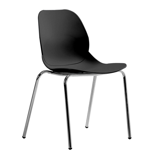 Elegant Stacking Chair With Chrome Leg Image 6