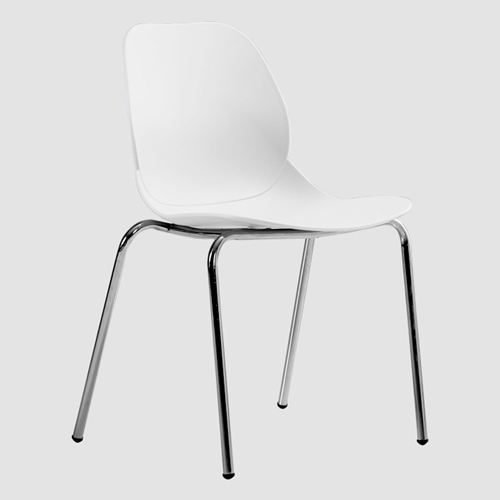 Elegant Stacking Chair With Chrome Leg Image 7