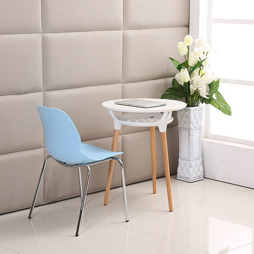Elegant Stacking Chair With Chrome Leg Image 8