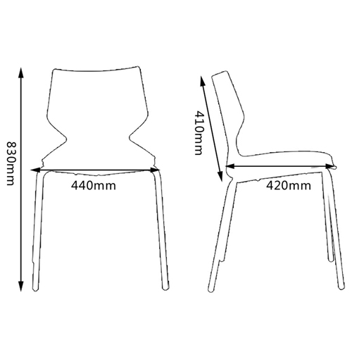 Helpol Metal Base Chair Image 18