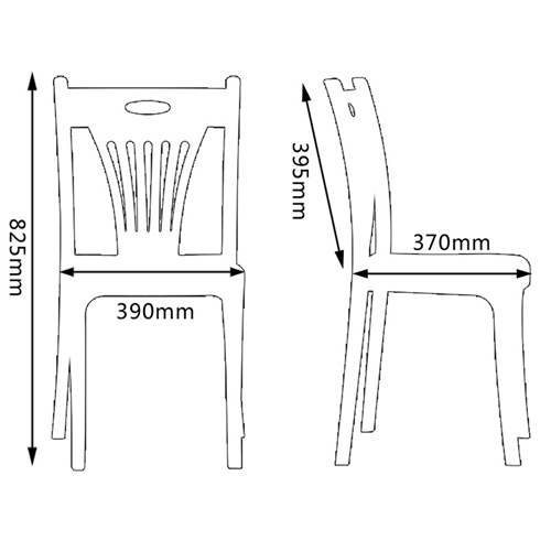 Inquala Plastic Stackable Chair Image 21