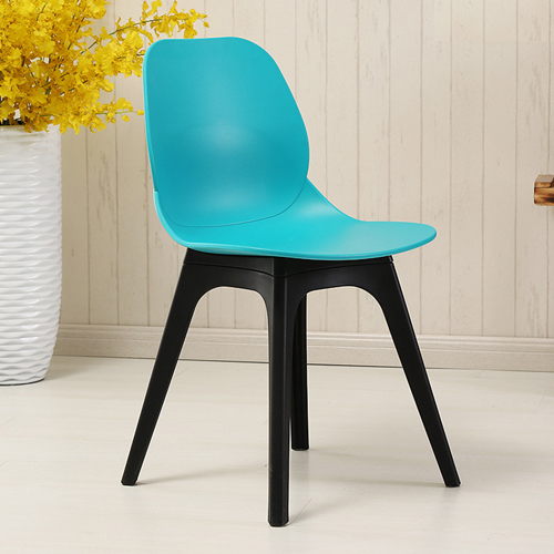Turquoise Molded Plastic Chair Image 1