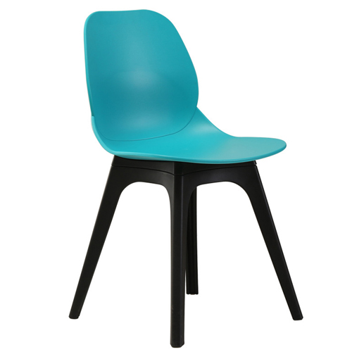 Turquoise Molded Plastic Chair Image 6