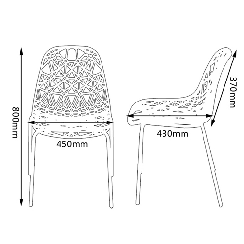 Hollow Design Replica Chair Image 20