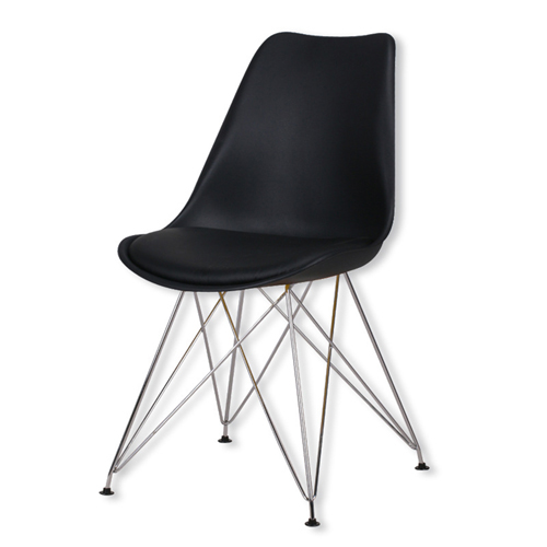 Tower Padded Chair With Chrome Legs Image 10