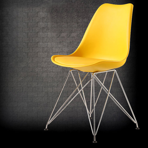 Tower Padded Chair With Chrome Legs Image 11