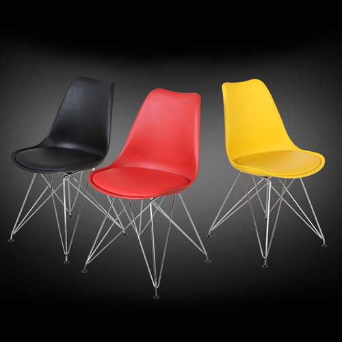 Tower Padded Chair With Chrome Legs Image 13