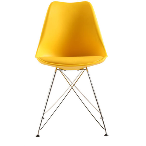 Tower Padded Chair With Chrome Legs Image 14