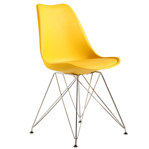 Tower Padded Chair With Chrome Legs