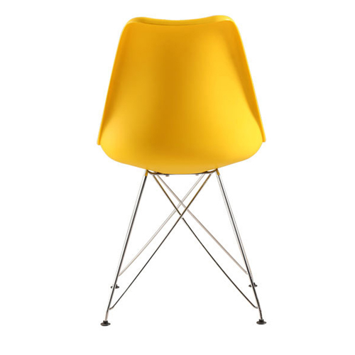 Tower Padded Chair With Chrome Legs Image 17