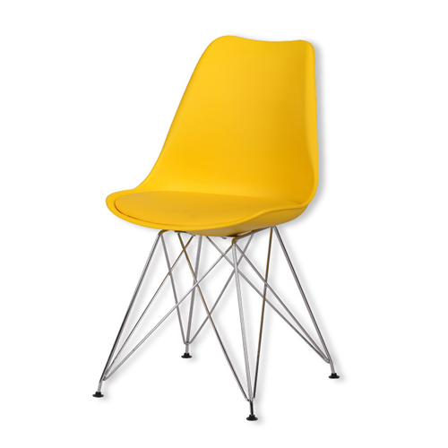 Tower Padded Chair With Chrome Legs Image 18