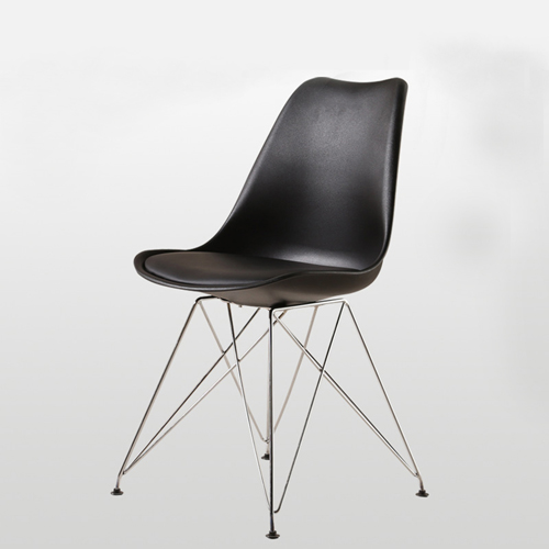 Tower Padded Chair With Chrome Legs Image 1