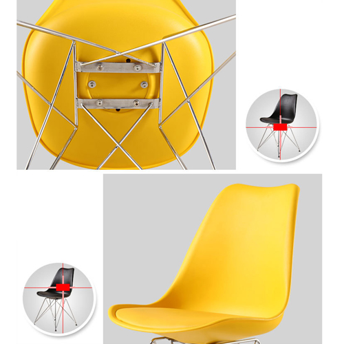 Tower Padded Chair With Chrome Legs Image 20