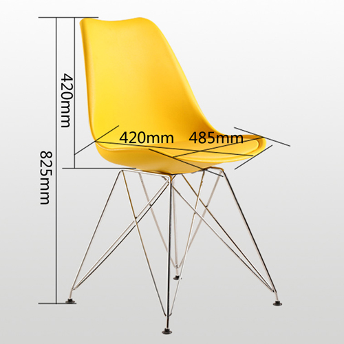 Tower Padded Chair With Chrome Legs Image 22