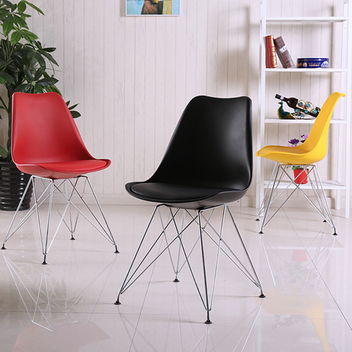 Tower Padded Chair With Chrome Legs Image 3