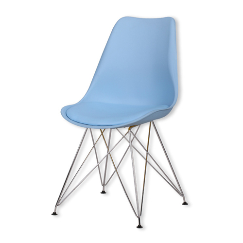 Tower Padded Chair With Chrome Legs Image 5
