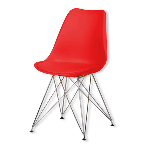 Tower Padded Chair With Chrome Legs Image 6