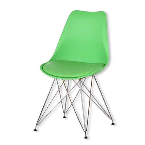 Tower Padded Chair With Chrome Legs Image 7