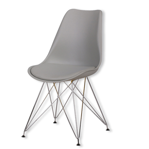 Tower Padded Chair With Chrome Legs Image 8