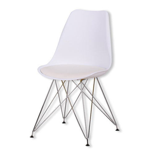 Tower Padded Chair With Chrome Legs Image 9