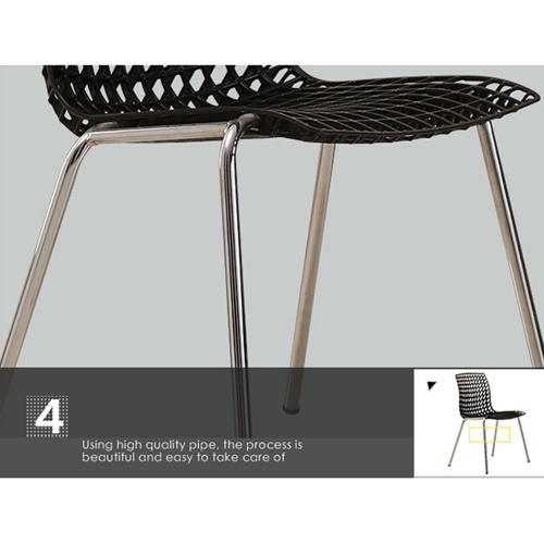 Delford Modern Plastic Chair Image 19