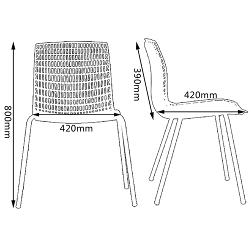Delford Modern Plastic Chair Image 21