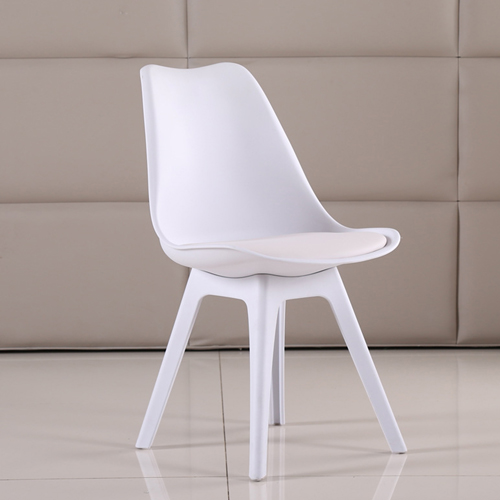 Nordic Plastic Chair with Padded Seat Image 9