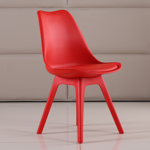 Nordic Plastic Chair with Padded Seat Image 10