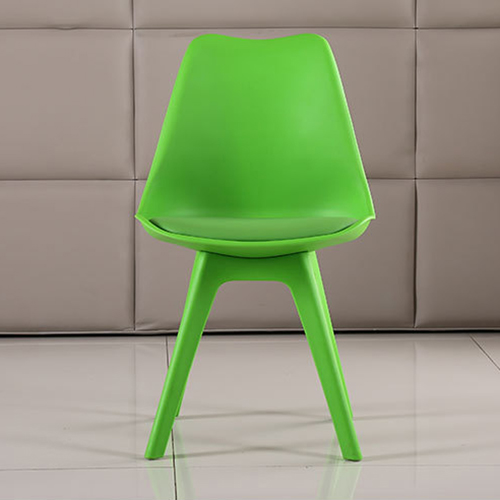 Nordic Plastic Chair with Padded Seat Image 11