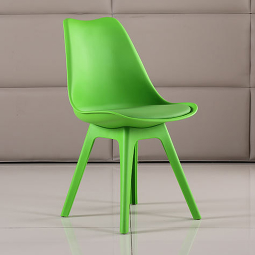 Nordic Plastic Chair with Padded Seat Image 12