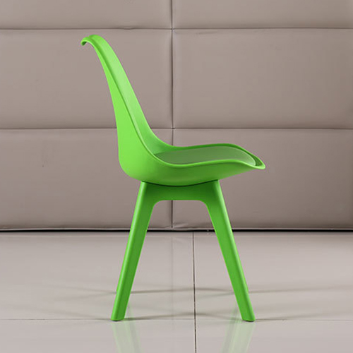 Nordic Plastic Chair with Padded Seat Image 13