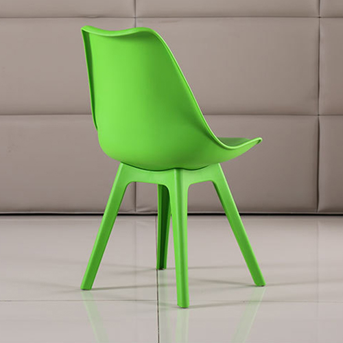 Nordic Plastic Chair with Padded Seat Image 14