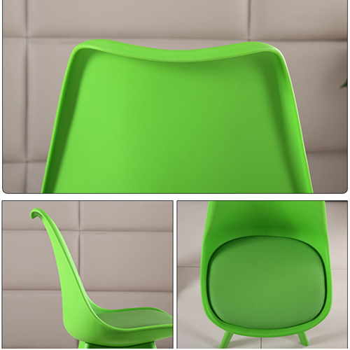 Nordic Plastic Chair with Padded Seat Image 18
