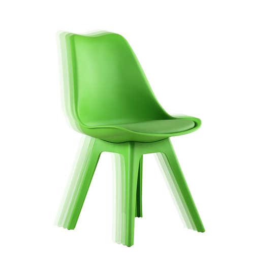 Nordic Plastic Chair with Padded Seat Image 1
